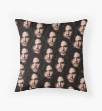 kit harington's head on repeat Throw Pillow
