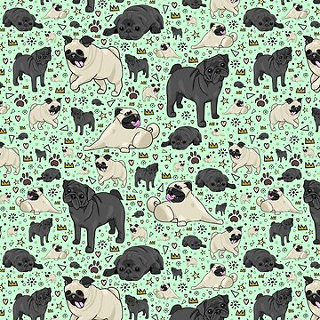 Pugs in Green  by Nemki