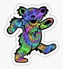 grateful dead psychedelic bear sticker Sticker