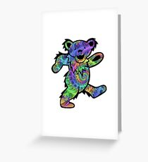grateful dead psychedelic bear sticker Greeting Card