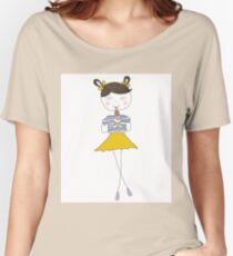 Cute girl with ice cream Women's Relaxed Fit T-Shirt
