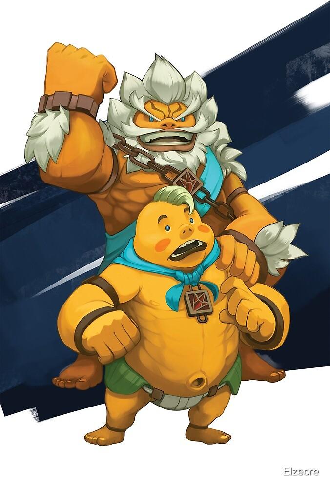 Daruk and Yunobo by Elzeore