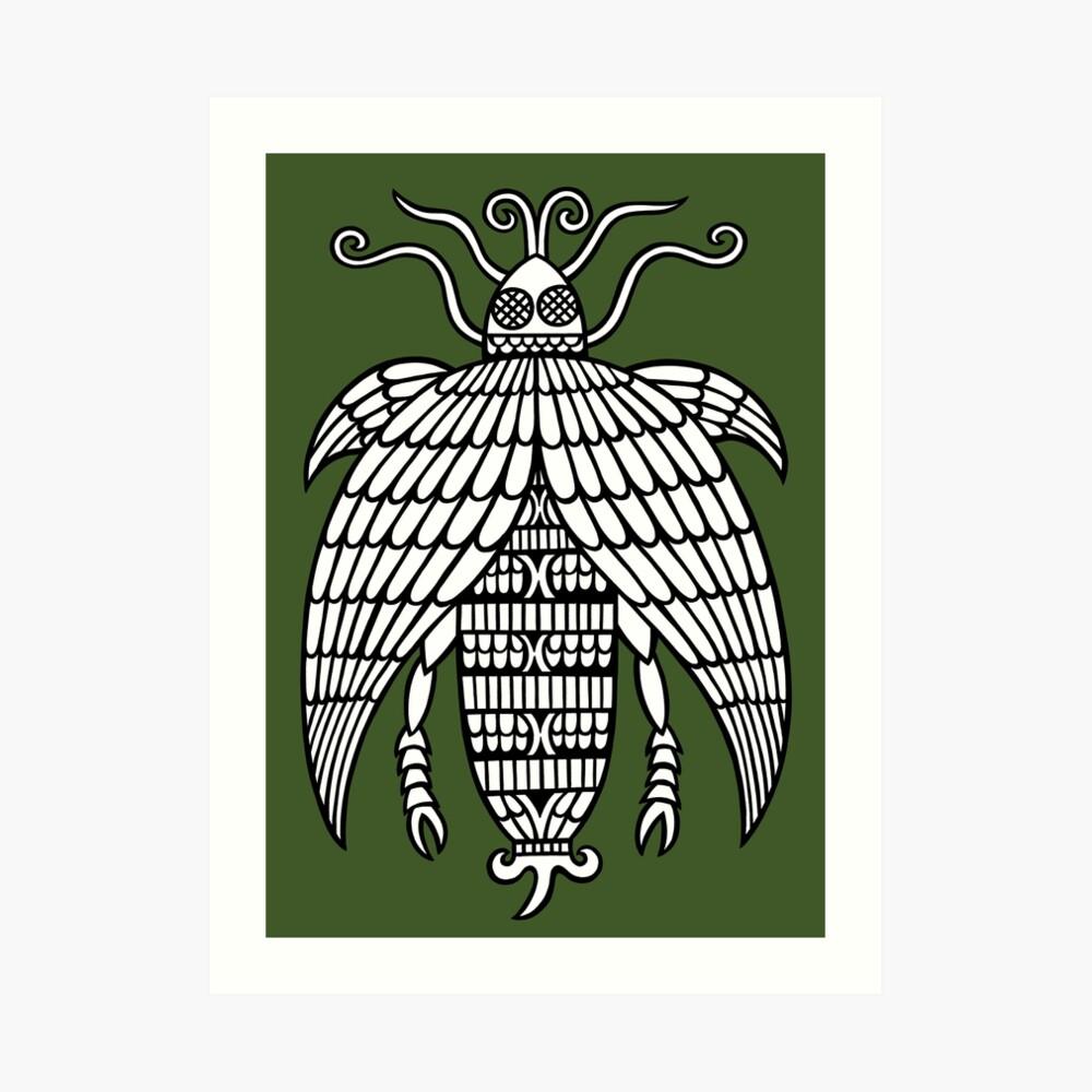 A decorative fly Art Print