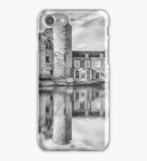 Tonbridge Castle Reflections 2 (black and white) iPhone Case/Skin