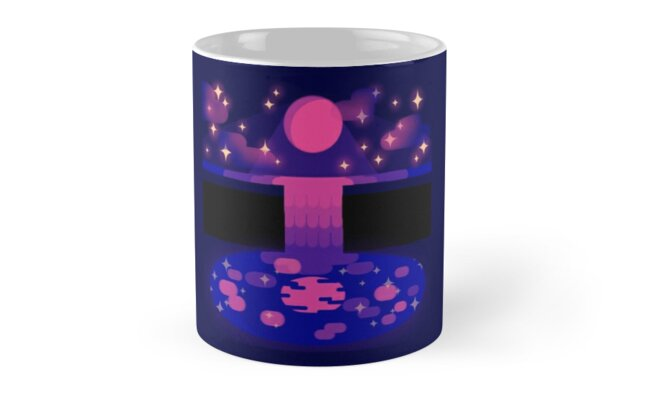 Pink Moon mug by hoofscout