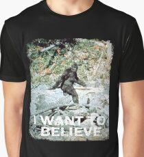 Finding Bigfoot Believe Graphic T-Shirt