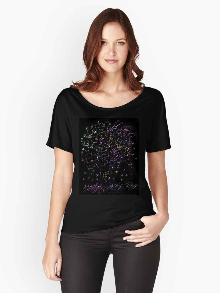 Arbol color Women's Relaxed Fit T-Shirt Front
