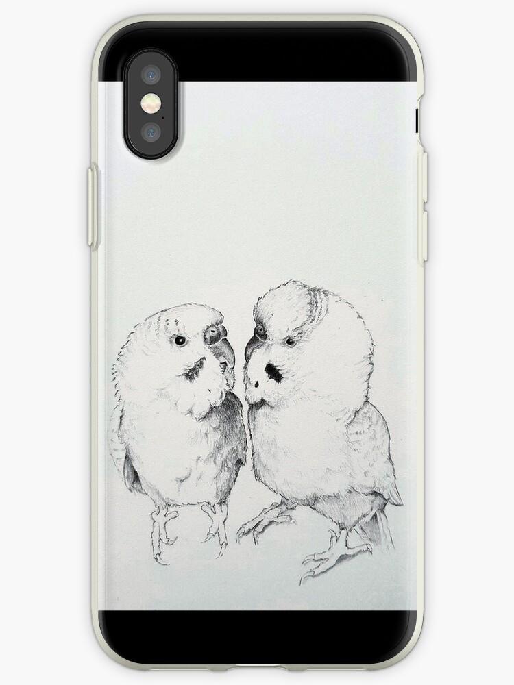 Budgie Bird Love by Malin Eek Hansen