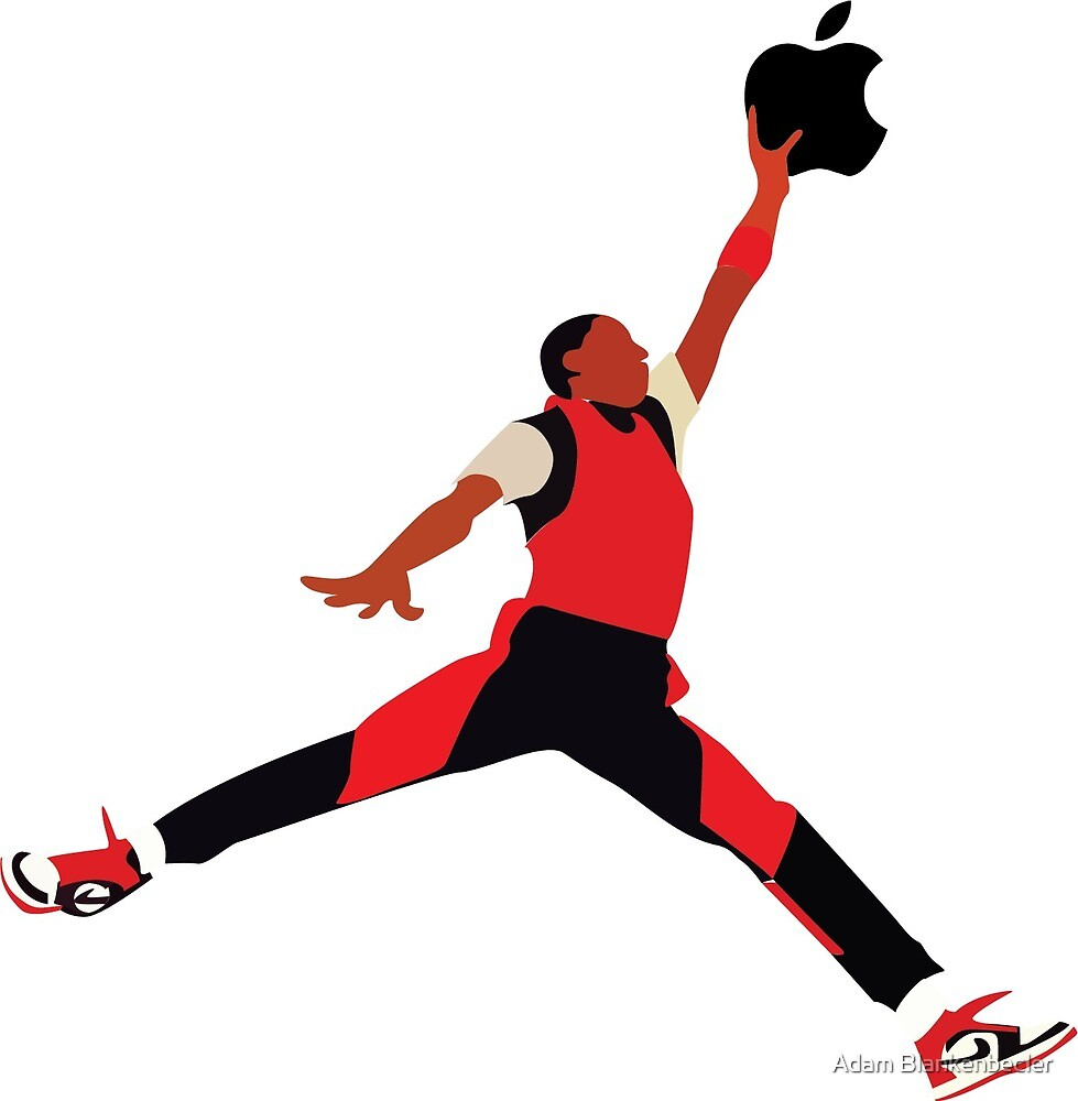 jumpman apple by Adam Blankenbecler
