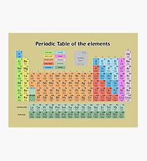 periodic table of the elements 3 Photographic Print