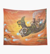 steampunk turtle Wall Tapestry