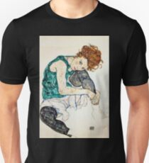 Egon Schiele Seated Woman with Bent Knee Unisex T-Shirt