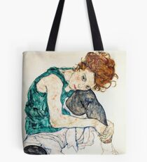 Egon Schiele Seated Woman with Bent Knee Tote Bag