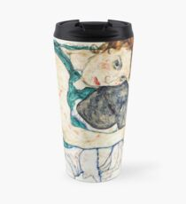 Egon Schiele Seated Woman with Bent Knee Travel Mug