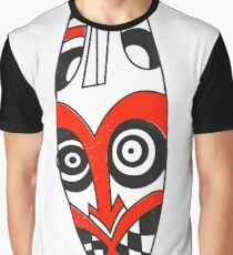Mask Tribal Red Graphic T-Shirt
