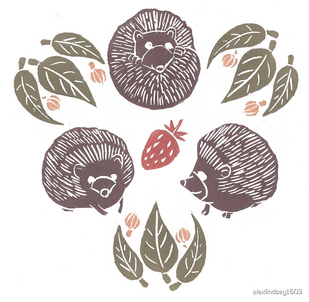 Hedgehogs and Strawberries by alexlindsey1603