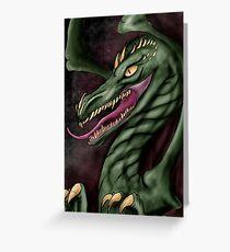 Big Green Dragon Greeting Card
