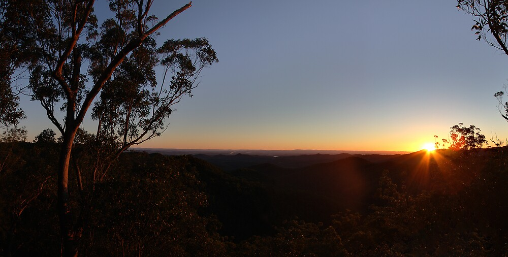 Sunset, Mt Nebo, Queensland. by David James