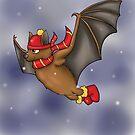 Gryffindor Inspired Winter Bat by jambammer