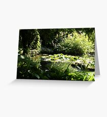 Trees & Water Lilies Greeting Card