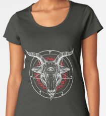 Satanic Goat Baphomet Lucifer Satan T-Shirt  Women's Premium T-Shirt