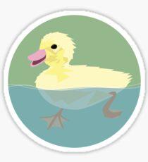 Swimming Duckling Sticker