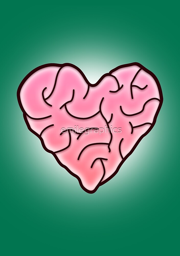 Love with your brain by emilegraphics