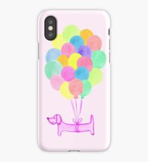 Pup Pup and Away! (Pink) iPhone Case/Skin
