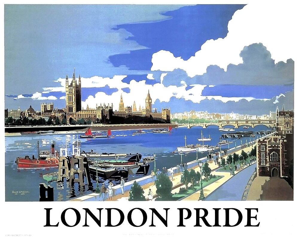 London, Westminster palace,landscape, travel poster by AmorOmniaVincit