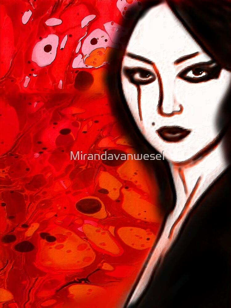 Asian marble girl by Mirandavanwesel