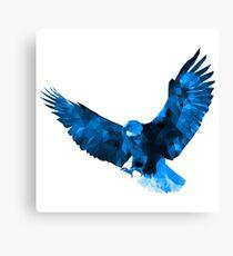 Bald Eagle - Low Poly (Blue) Canvas Print