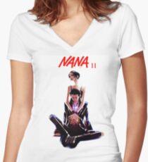 Nana x Women's Fitted V-Neck T-Shirt