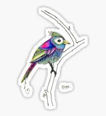 A little bird called Hope Sticker