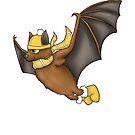 Hufflepuff Inspired Winter Bat (No Background) by jambammer