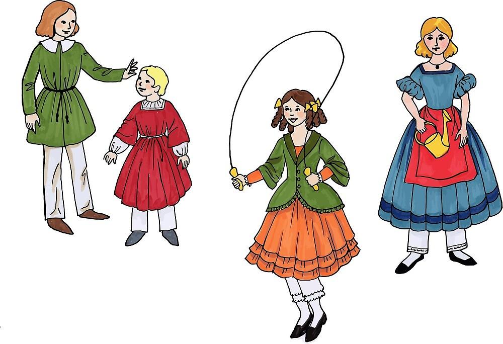 Vintage Children's Fashion Art by greengoodnich