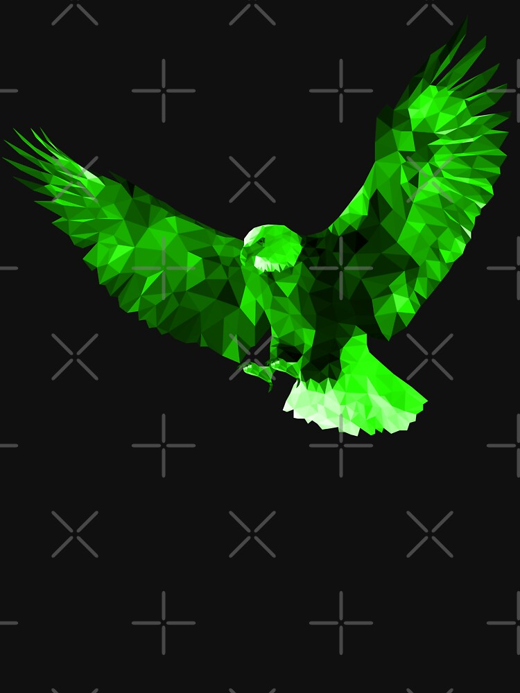 Bald Eagle - Low Poly (Green) by lurchmerch