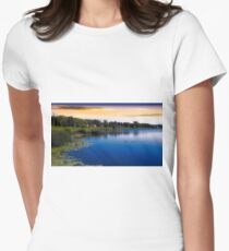 ...river... Women's Fitted T-Shirt