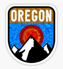 OREGON MOUNTAINS SUN CRATER LAKE OUTDOORS NATURE BEND MOUNT HOOD WILLAMETTE  Sticker