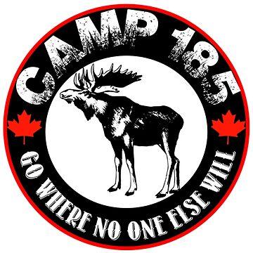 Camp 185 Moose Tee by ccleaner89