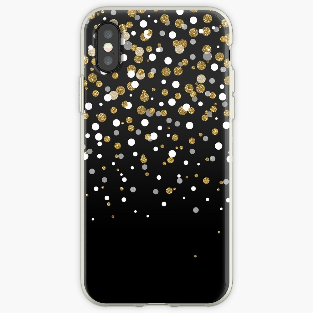 Hübsche moderne girly ImitatgoldGlitter Confetti Ombre Illustration iPhone-Hülle & Cover