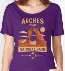 Arches National Park Vintage Utah T Shirt Women's Relaxed Fit T-Shirt
