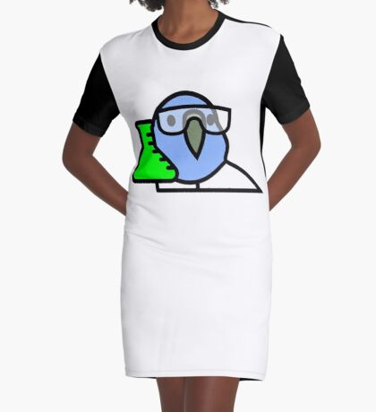 PartyParrot - Science Parrot Graphic T-Shirt Dress