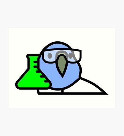 PartyParrot - Science Parrot Art Print