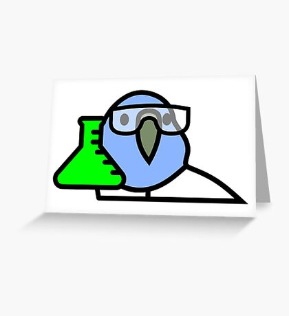 PartyParrot - Science Parrot Greeting Card