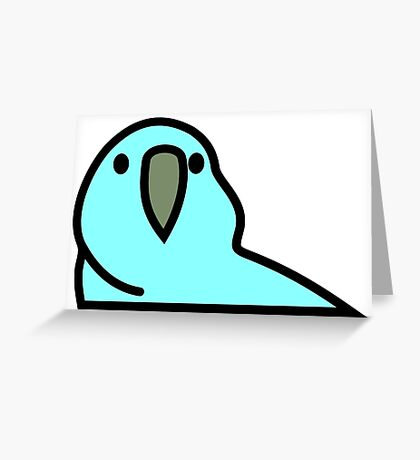 PartyParrot - Light Blue Greeting Card