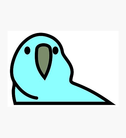 PartyParrot - Light Blue Photographic Print