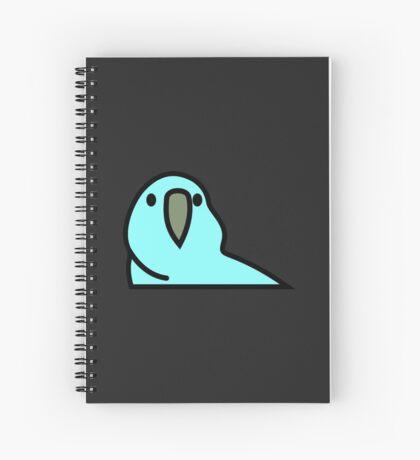 PartyParrot - Light Blue Spiral Notebook