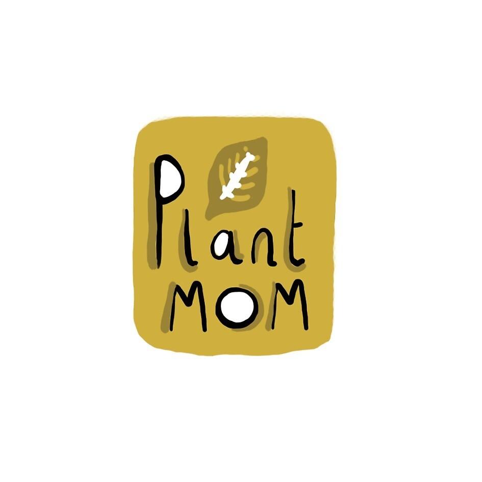 Plant Mom Mustard by Skye Henson