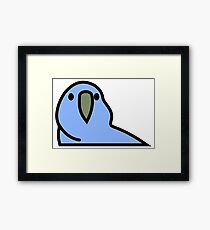 PartyParrot - Dark Blue Framed Print