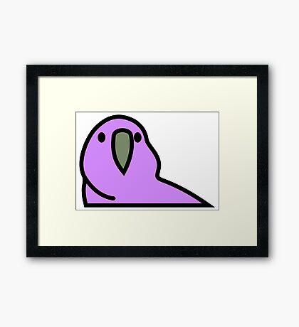 PartyParrot - Purple Framed Print